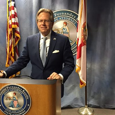 Michael Kesti, SOUTHERN METHODIST 1983, is pictured. The FBI asked him to work as a confidential informant after he brought forward suspicions surrounding the finances of a foundation for which he consulted. His work in this role led to the arrests of two sitting mayors in south Florida in 2014.